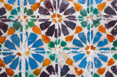 Colorful tile detail, typical in Lisbon, Portugal — Stock Photo
