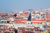 Lisbon city, Portugal. Aereal view on sunny day from San Jorge Castle — Stock Photo