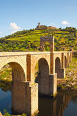 Alcantara roman bridge, Extremadura, Spain — Stock Photo