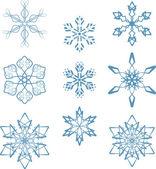 Snowflakes set — Stock Vector