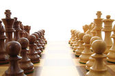 Chess opposing forces — Stock Photo