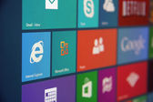 Starten von Windows 8 — Stockfoto