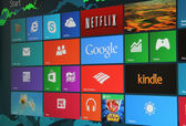 Windows 8 Start Screen — Stock Photo