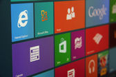 Windows 8 Start Screen Angled — Stock Photo