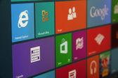 Windows 8 Start Screen Angled — Stock Photo