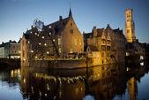 Nightscene in Bruges (Brugge), Belgium — Stock Photo