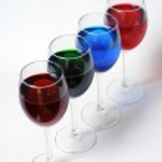 Copas de colores — Stock Photo