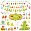 Set of Christmas elements — Stock Vector #13473434