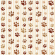 Brown footprints seamless pattern — Stock Vector