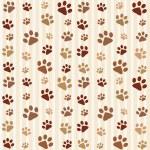 Brown footprints seamless pattern — Stock Vector #13473551