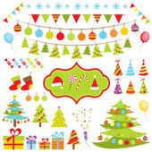 Set of Christmas elements — Stock Vector