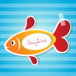 Royalty-Free Stock Vector Image: Vector fish sticker with tape