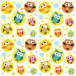 seamless pattern with colorful owls — Stock Vector