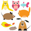 Vector animals — Stock Vector