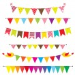 Stock Vector: Vector bunting and garland set