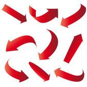 Red arrows — Stock Vector