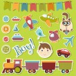 Baby boy set - Stock Vector