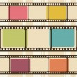 Stock Vector: Retro background with film strips