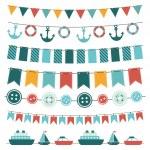 Sea theme garland — Stock Vector