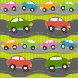 Stock Vector: Seamless pattern with cars