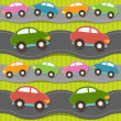 Royalty-Free Stock Vector Image: Seamless pattern with cars