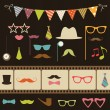 Stock Vector: Set of retro party elements