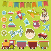 Baby boy set — Stock Vector