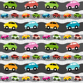 Background with cars — Stock Vector