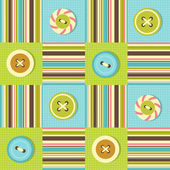 Background with sewing buttons — Vector de stock