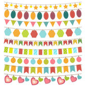 Bunting and garland — Stock Vector