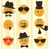 Retro smileys — Stock Vector