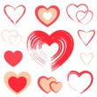 Set of red hearts — Stock Vector #21286567