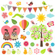 Stock Vector: Spring set