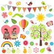 Spring set — Stock Vector