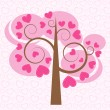 Stock Vector: Love tree