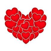 Heart stickers — Stockvektor