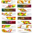 Set of vector horizontal banners — Stock Vector