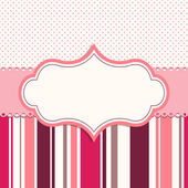 Pink frame for greeting card — Stock Vector