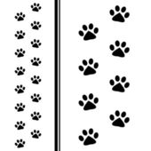 Animal paw prints — Stockvektor