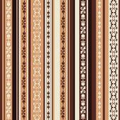 Modèle marron avec ornements — Vecteur