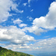 Blue sky with white clouds - ストック写真