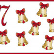 12 days of christmas: 7 bells — Stock Photo #12084763