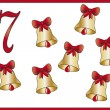 Stock Photo: 12 days of christmas: 7 bells
