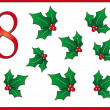 12 days of christmas: 8 holly - Stock Photo