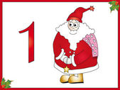 12 days of christmas: 1 Santa Claus — Stock Photo