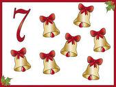 12 days of christmas: 7 bells — Stock Photo