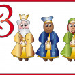 12 days of christmas: 3 magi - Stock Photo