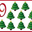 12 days of christmas: 9 Christmas trees — Stock Photo #12100112