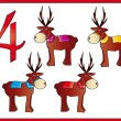 12 days of christmas: 4 reindeer — Stock Photo #12100548