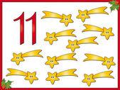 12 days of christmas: 11 comet — Stock Photo